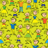 Dad, mom and son seamless pattern Royalty Free Stock Photo
