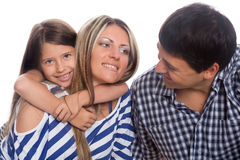 Dad, Mom and their daughter Royalty Free Stock Photos