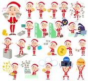 Dad_money костюма Санта Клауса иллюстрация штока