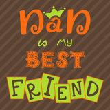Dad is my best friend. Hand lettering. Greeting inscription Father's Day Stock Images
