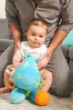 Dad and newborn baby Stock Photo