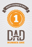 Dad number one 1 Royalty Free Stock Images