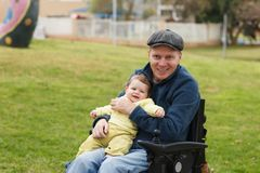Dad play with son royalty free stock photos