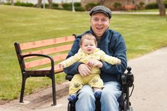 Dad play with son royalty free stock photography