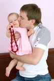 Dad plays with babygirl Royalty Free Stock Photos
