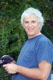 Dad with RC car stock photos