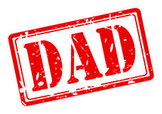 DAD red stamp text Stock Photography