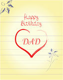 Dad's birthday. A Father's Birthday card created in illustrator Stock Photography