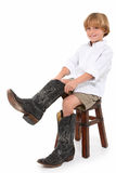 Dad's Boots Royalty Free Stock Photography