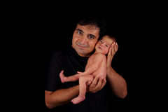 In Dad's hands Royalty Free Stock Image