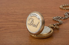 Dad's Pocket Watch Stock Photo