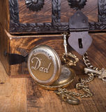 Dad`s Pocket Watch Stock Images