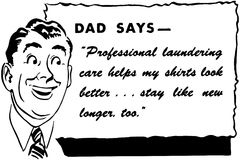 Dad Says Stock Image