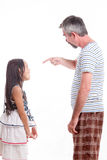 Dad scolding naughty daughter Stock Photography