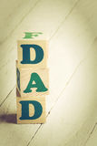 Dad sign Stock Photography