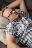Dad sleeping siesta Royalty Free Stock Image