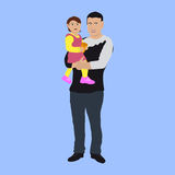 Dad with a small child. Royalty Free Stock Image