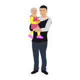 Dad with a small child. Royalty Free Stock Photo