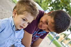Dad and son Stock Photos