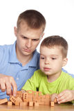 Dad and son Royalty Free Stock Photography