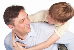 Dad with son Royalty Free Stock Image