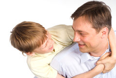 Dad with son Royalty Free Stock Photography