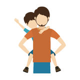 Dad and son design Stock Image