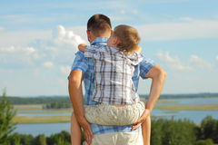Dad and son Stock Photo