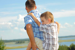 Dad and son Royalty Free Stock Photo