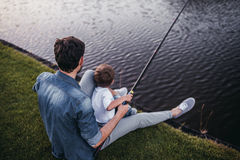 Dad with son Royalty Free Stock Photos