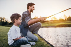 Dad with son Stock Image
