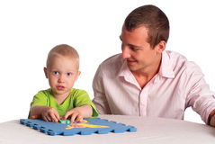 Dad and son play Royalty Free Stock Photography