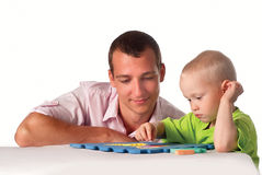 Dad and son play Stock Image
