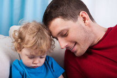 Dad and son spending time together Stock Photo