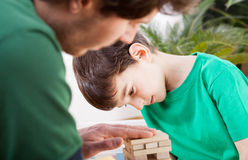 Dad and son spending time together Royalty Free Stock Images