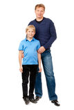 Dad and son are in the studio Stock Images