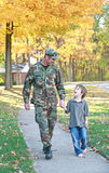 Dad and Son Walking Royalty Free Stock Photography