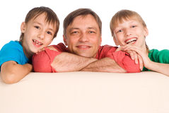 Dad and sons Royalty Free Stock Photos