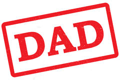 Dad Stamp. Red rubber stamp with the word dad on it, isolated on white Stock Images