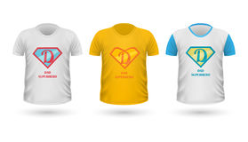 Dad Superhero T-shirt Front View Isolated. Vector Royalty Free Stock Photography