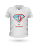 Dad Superhero T-shirt Front View Isolated. Vector. Dad superhero T-shirt front view isolated. White t-shirt. Realistic t-shirt vector in flat. Father s day Royalty Free Stock Photos