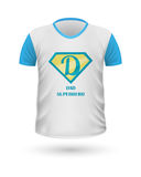 Dad Superhero T-shirt Front View Isolated. Vector Stock Photo