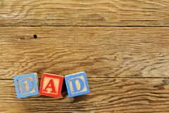 DAD wooden background Stock Images