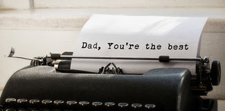 Dad you are the best written on paper Stock Photography