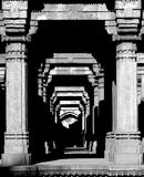 Dada Hari ni Vav, Ahmedabad, India. A black and white image of the step-well named Dada Hari ni Vav, in Ahmedabad, Gujarat, India Stock Photo