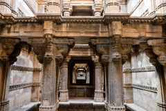 Dada Hari ni Vav stepwell in Ahmadabad, India. Dada Hari ni Vav stepwell is a Hindu water building in the village of Adalaj, close to Ahmedabad town in the Royalty Free Stock Photos