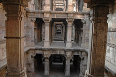 Dada Hari's Step well, Ahmedabad. Ancient architecture a Step well called Dada Hari ni Vav is situated at Ahmedabad, Gujarat, India. Its a Heritage landmark Royalty Free Stock Photos