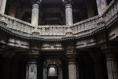 Dada Hari Step well. Photo of Dada Hari step well staircase which is a heritage structure located at Ahmedabad, Gujarat, India Stock Photos