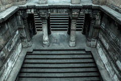 Dada Hari Step well. Photo of Dada Hari step well staircase which is a heritage structure located at Ahmedabad, Gujarat, India Royalty Free Stock Photo
