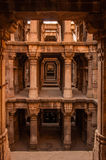 Dada Hari Vav. Is an elaborately designed stepped well. The well lies just behind the tomb of Dada Hari. It is an octagonal shaped well, which is located below Stock Image